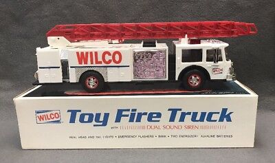 1990 Wilco Toy Fire Truck New Vintage Sounds Lights