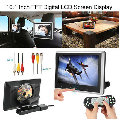 "10.1"" HD LCD Touch Button Monitor Car Headrest DVD Player Game IR/FM USB SD Q7T6"