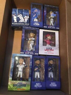 Toronto Blue Jays Bobblehead Lot Of 8 Donaldson Estrada Sanchez Tulowitzki +More