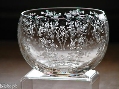 GLASSWARE SALE Cambridge Glass DIANE Etch Sparkling Clear Sauce/Mayonnaise Bowl