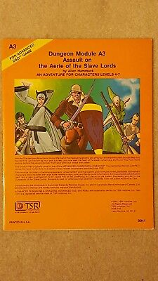 A3 The Aerie Of The Slave Lords 1981 Ad&d Tsr 9041 Nm-/nm-
