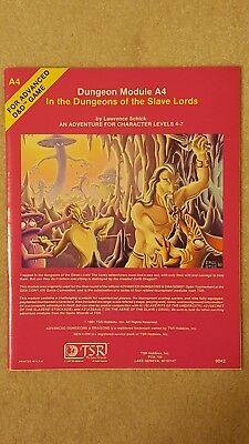 A4 In The Dungeons Of The Slave Lords 1981 Ad&d Tsr 9042 Nm/nm
