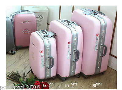 20 Inch Fashion Pink Lovely Practical Traveling Universal Wheel Suitcase