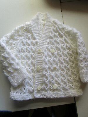 babies hand knitted double front cardigan
