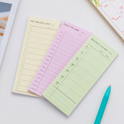 Day Week Month Plan Detailed Lists Daily Memos Pad Planner Stickers Sticky Notes