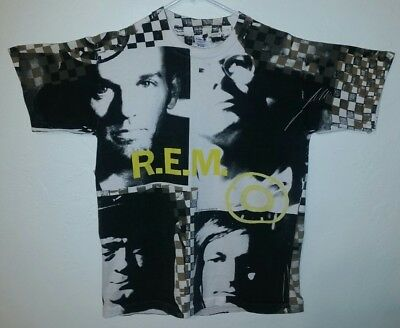 Vintage 1991 R.E.M all over print concert Radio  Song  Size Large T Shirt