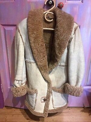 Vintage Sheep Skin /  Lambs Wool  Coat / Jacket - Excellent Condition