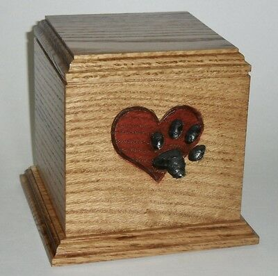 Paw on Heart Dog pet cremation urn
