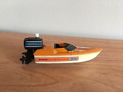 Tomy Speed Racer Boat With Mercury Outboard Motor 1978 *WORKS* Blue Sticker