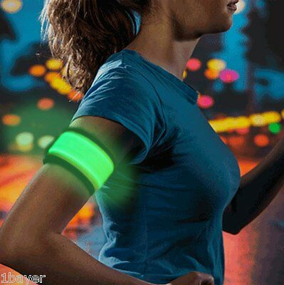 Higo LED Slap Armband Light Slap Wrap Bracelet Glowing Runner Wrist Band Green