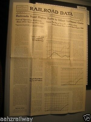 May 11 1951 - Railroad Data Newspaper - Eastern Railroad Presidents Conference