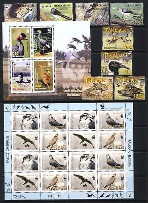 WWF Bird stamps,sheets, strips and sets all mnh vf complete on 3 pages  90.75.
