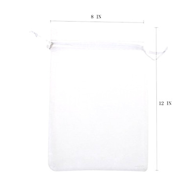 Organza Drawstring Gift Bag Pouch Wrap  Pack of 50PCS 8x12 Inch for Party KUPOO