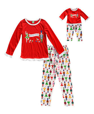 Dollie & Me Girl 2T -14 and Doll Matching Nutcracker Pajama Outfit American Girl