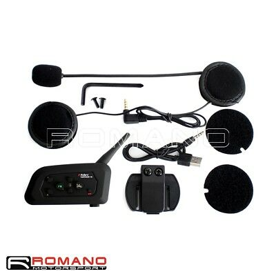 Motorcycle Helmet V4 1200M Bluetooth Headset Intercom Headphone Speaker Phone