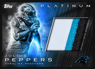 Topps Huddle Platinum Relic Julius Peppers Panthers  - Digital Card