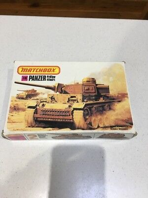 Matchbox Panzer PzKfpw III Ausf-L  Kit 40074 1:76 Partially Built, Some Flaws