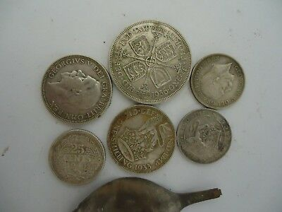 silve coins metal detecting finds
