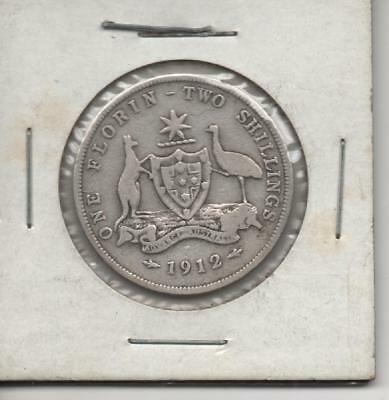 AU - 1912 - One Florin - Two Shillings Coin