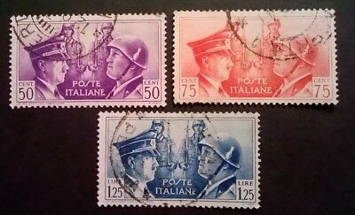 Italy Stamps - 1941 - Hitler & Mussolini - Set Of 3 - Used