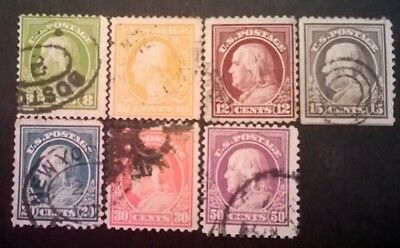 United States Of America Stamps - 1912 - Set Of 7 - Used