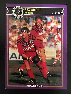 #77  1987 Scanlens North Sydney Bears Rugby League NRL Card - Near Mint
