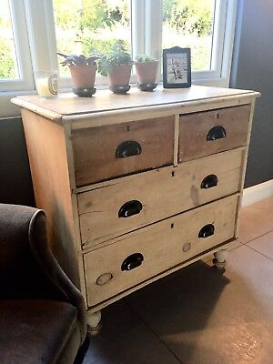 Old stripped Pine Chest Of Drawers