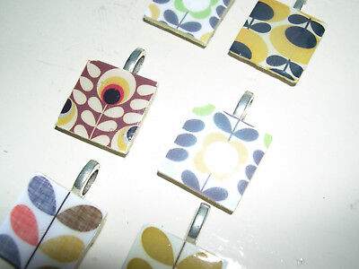 christmas hand crafted pendants crafted with orla kiely pattern and print paper