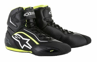 Alpinestars FASTER 2 Black Fluo Commuter Motorcycle Riding Shoe Boots US Sizes