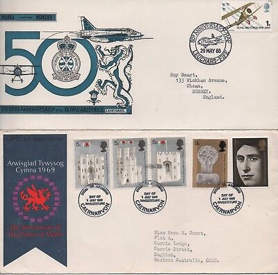 UK - 4x First Day Covers with descriptive inserts from 1968