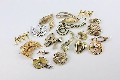Collection of 20 x STATEMENT / ABSTRACT Swirl Design Mixed COSTUME BROOCHES