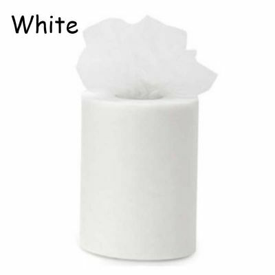 """White 6""""x 25YD Tutu Dress Tulle Roll Home Party Festival Wedding Decoration"""