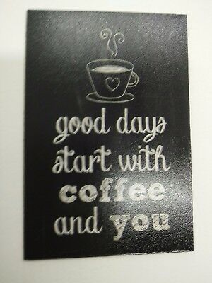 COFFEE IS GOD pic Design Vintage Poster Magnet Fridge Collectibles Home