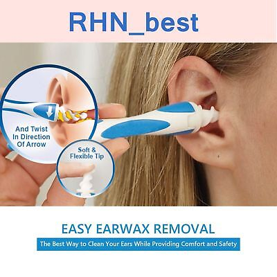 Automatic Vacuum Ear Cleaner Cleaning Wax Remover Removal Spiral Easy Safe Tool
