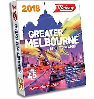 NEW! MELWAY 2018 Melbourne Street Directory Edition 45 - Free Postage