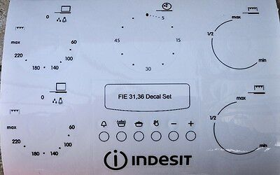 Indesit FI 31 K.B GB etc oven, cooker panel, decal, stickers.