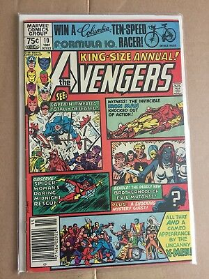 MARVEL Comics AVENGERS  #10 Annual king size 1st Rogue Madeline Pryor X-men