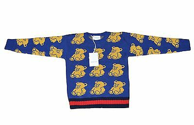 NEW GUCCI 2017 ready to wear bear jacquard sweater for Boys Sz. 8 Years 134 cm
