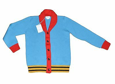 NEW GUCCI 2017 ready to wear Toddler Boys Cardigan 100% wool Knit 10 Years