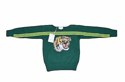 NEW GUCCI 2017 Children's sweater with tiger embroidered Patch 5 Y green