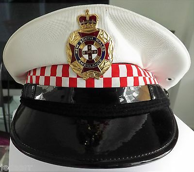 Nsw Ambulance Cap Hat  Badge  Not Police Fire Rescue Vintage