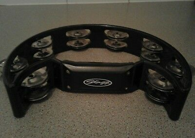 Stagg TAB2BK Cutaway Tambourine 16 Jingle - Black