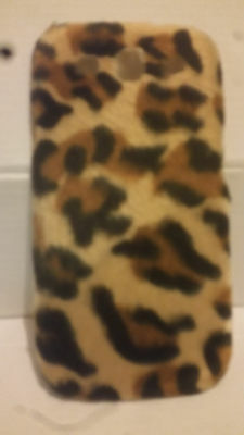 Fuzzy Leopard Print Hard Back Shell Back Case for Samsung Galaxy S3