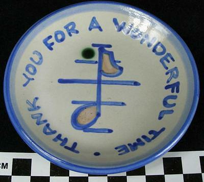 MA Hadley Pottery Thank You For A Wonderful Time Butter Pat Coaster Mini Dish HH