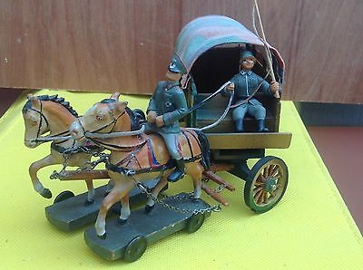 German toys WW2 horse and wagon. Lot 03