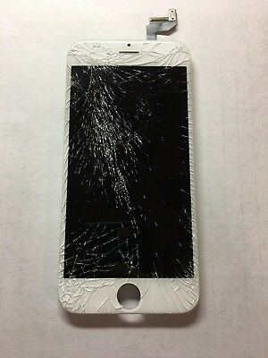 OEM Original Apple iPhone 6s LCD Digitizer Display CRACKED Glass GOOD LCD
