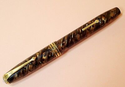 Vintage Conway Stewart 58 - Attractive Tigers Eye Design - Full Working Order