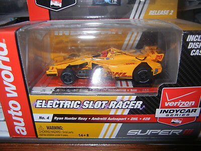 Auto World Super III Ryan Hunter DHL #28 INDY F-1 SLOT CAR