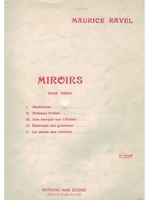 Editions Max Eschig Spartito Maurice Ravel Miroirs Pour Piano