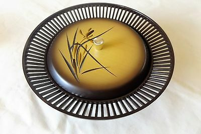 VINTAGE 1960s DECORATIVE PLASTIC LIDDED BOWL MADE IN JAPAN